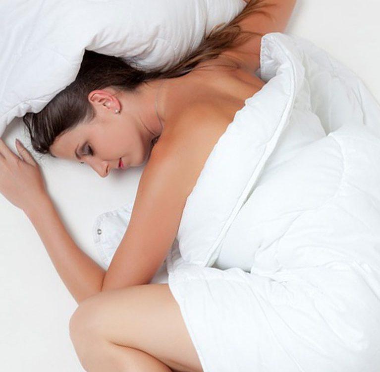 slapen vrouw